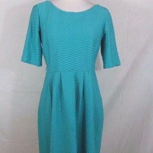 ENFOCUS STUDIO WOMEN GREEN TEXTURED DRESS-SIZE 8